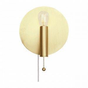 Globen Lighting Art Deco Seinävalaisin Messinki