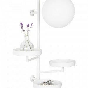 Globen Lighting Astoria Seinävalaisin Valkoinen