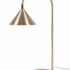 Globen Lighting Bristol Pöytävalaisin Harjattua Messinkiä