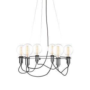 Globen Lighting Cables Kattokruunu Musta / Kromi