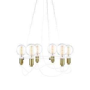 Globen Lighting Cables Kattokruunu Valkoinen / Messinki