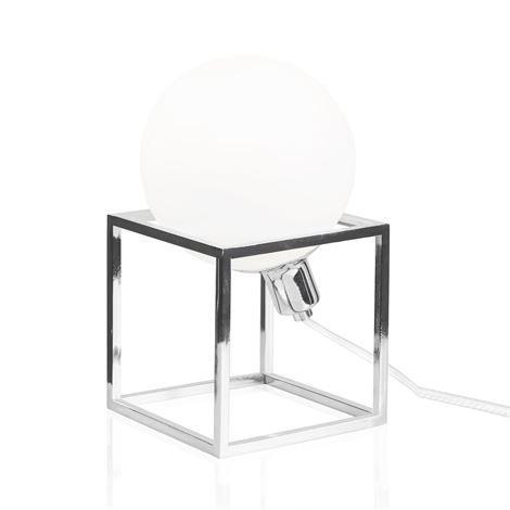 Globen Lighting Cube Pöytävalaisin Kromi