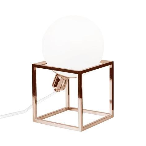 Globen Lighting Cube Pöytävalaisin Kupari