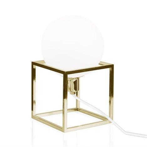 Globen Lighting Cube Pöytävalaisin Messinki