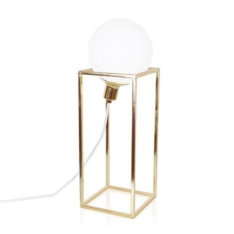 Globen Lighting Cube Xl Pöytävalaisin Messinki