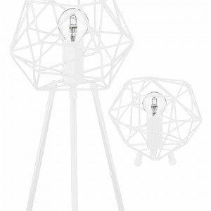Globen Lighting Diamant Pöytävalaisin Valkoinen