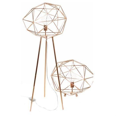 Globen Lighting Diamond Lattiavalaisin Kupari