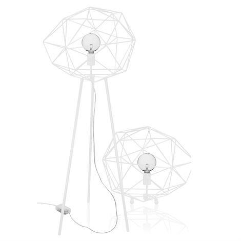 Globen Lighting Diamond Lattiavalaisin Valkoinen