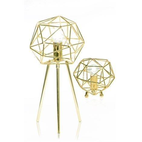 Globen Lighting Diamond Pöytävalaisin Messinki
