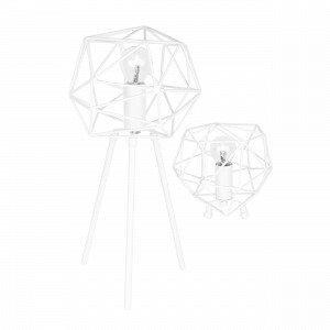Globen Lighting Diamond Pöytävalaisin Valkoinen