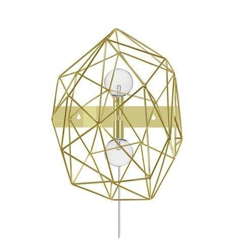 Globen Lighting Diamond Seinävalaisin Messinki
