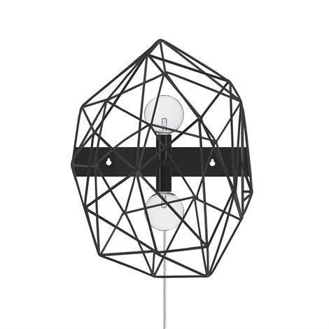 Globen Lighting Diamond Seinävalaisin Musta