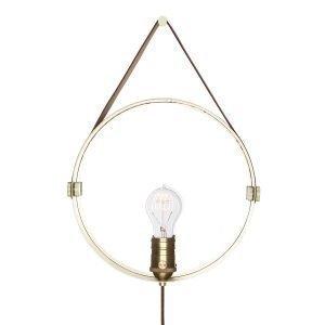 Globen Lighting Hangover Seinävalaisin Ruskea / Messinki