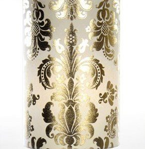 Globen Lighting Lampunvarjostin Puuvilla Kultainen/ Valkoinen