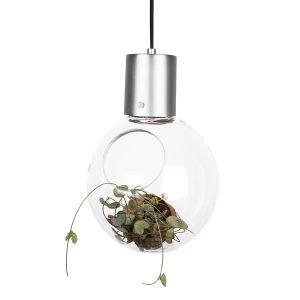 Globen Lighting Mini Hole Riippuvalaisin Kirkas Lasi / Kromi