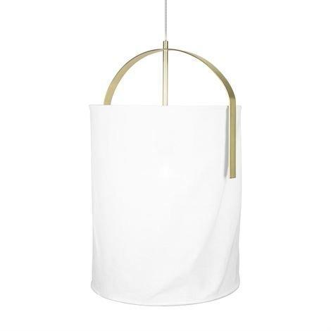 Globen Lighting Nest Kattovalaisin Valkoinen-Messinki