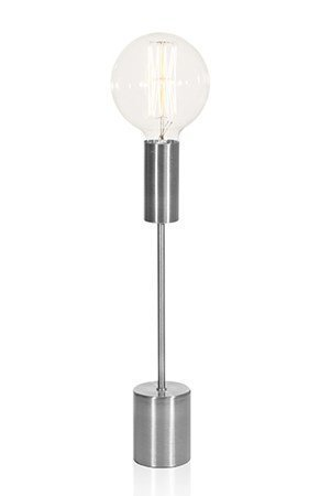 Globen Lighting Pöytävalaisimenjalka Bright Antiikkinen hopea