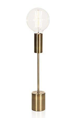 Globen Lighting Pöytävalaisimenjalka Bright Antiikkinen messinki