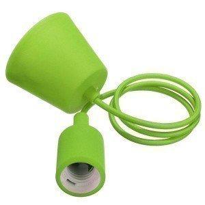 Green Simple LED Bulb Pendant