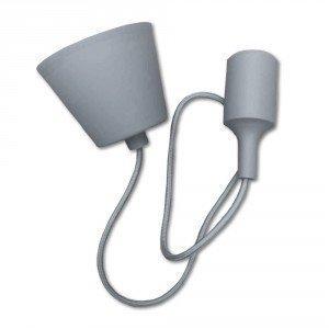 Grey Simple LED Bulb Pendant