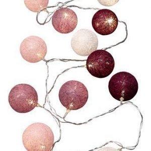 Halens Valoköynnös Cotton ball Liila Valkoinen