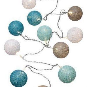 Halens Valoköynnös Cotton ball Valkoinen Harmaa Turkoosi