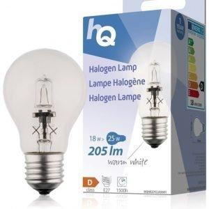 Halogeenilamppu klassinen GLS E27 18 W 205 lm 2800K
