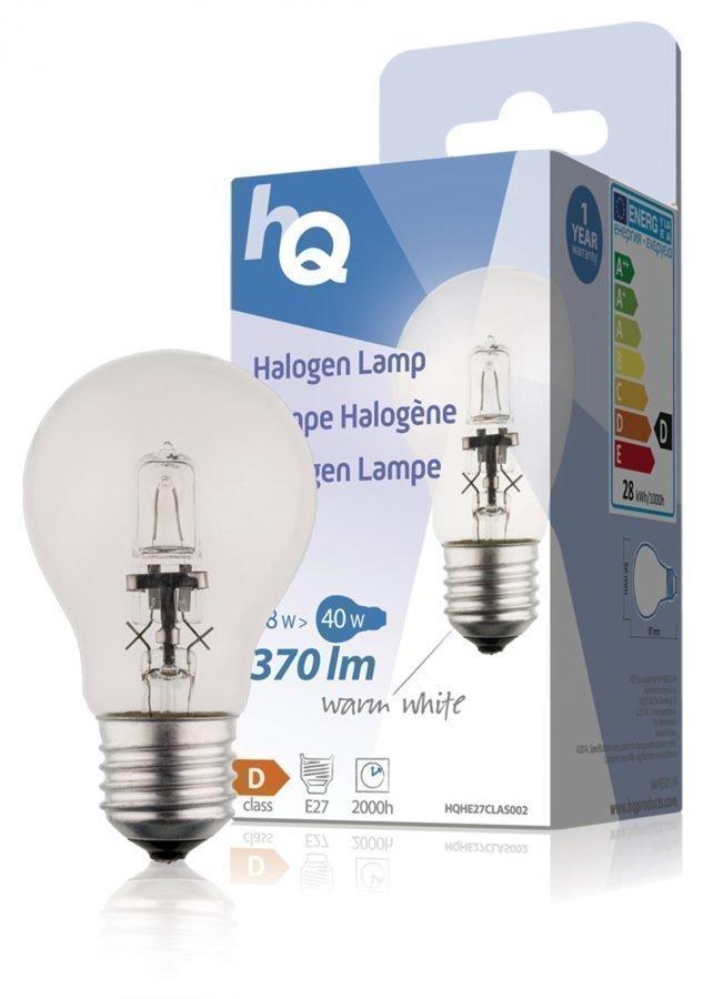 Halogeenilamppu klassinen GLS E27 28 W 370 lm 2800K