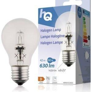 Halogeenilamppu klassinen GLS E27 42 W 630 lm 2800K