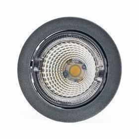 Hella LED-kohdevalaisin Universal Design Spot S100 8W 40° 2900K tummanharmaa/oranssi sisä