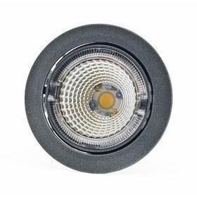 Hella LED-kohdevalaisin Universal Design Spot S100 8W 60° 2900K tummanharmaa/oranssi sisä