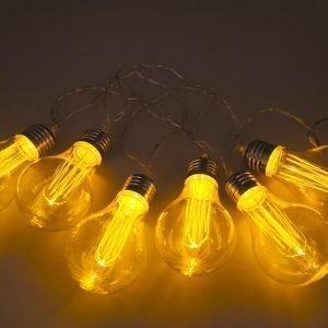 Hem & Hus Led Vakiolamppusarja Lämmin Valkoinen 6-Osainen