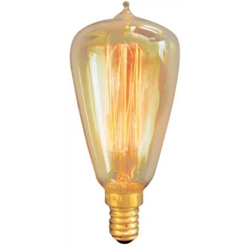 Hiililankalamppu Deco 40W E14 amber