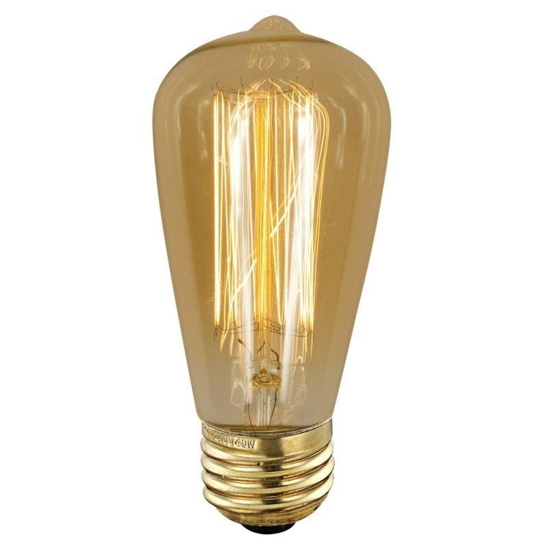 Hiililankalamppu Deco Amber 90140 40W E27 Ø 64x140 mm 2700K 120lm