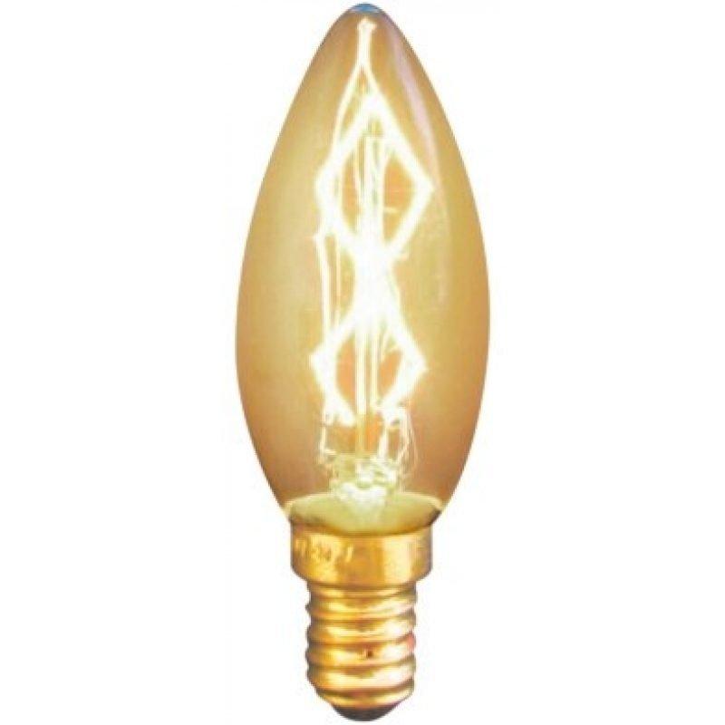 Hiililankalamppu Deco kynttilä 25 W E14 amber