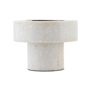House Doctor Pin Pöytävalaisin Valkoinen Marmor