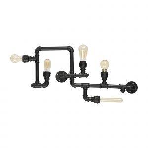 Ideal Lux Plumber 5 Kattovalaisin Musta