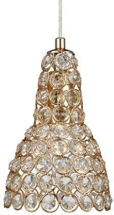 Ikkunavalaisin Fia Ø 120x190 mm kulta/Brilliant-kristalli