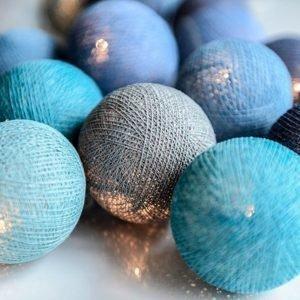 Irislights Pallovalot Ocean Blue 20 Kpl