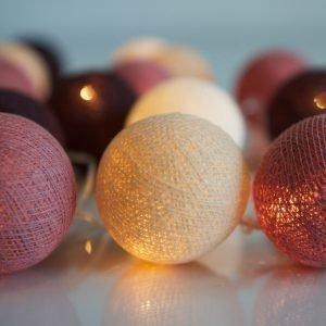 Irislights Valoketju 10 Lamppua Dusty Pink