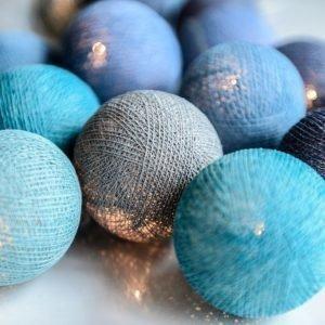 Irislights Valoketju 10 Lamppua Ocean Blue