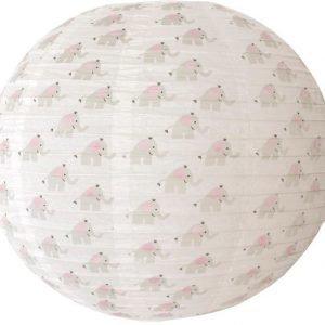 Jabadabado Riisipaperivarjostin Norsu 50 cm Harmaa/valkoinen