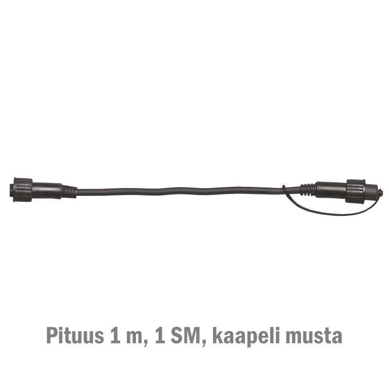 Jatkokaapeli System LED Extra musta 1 m