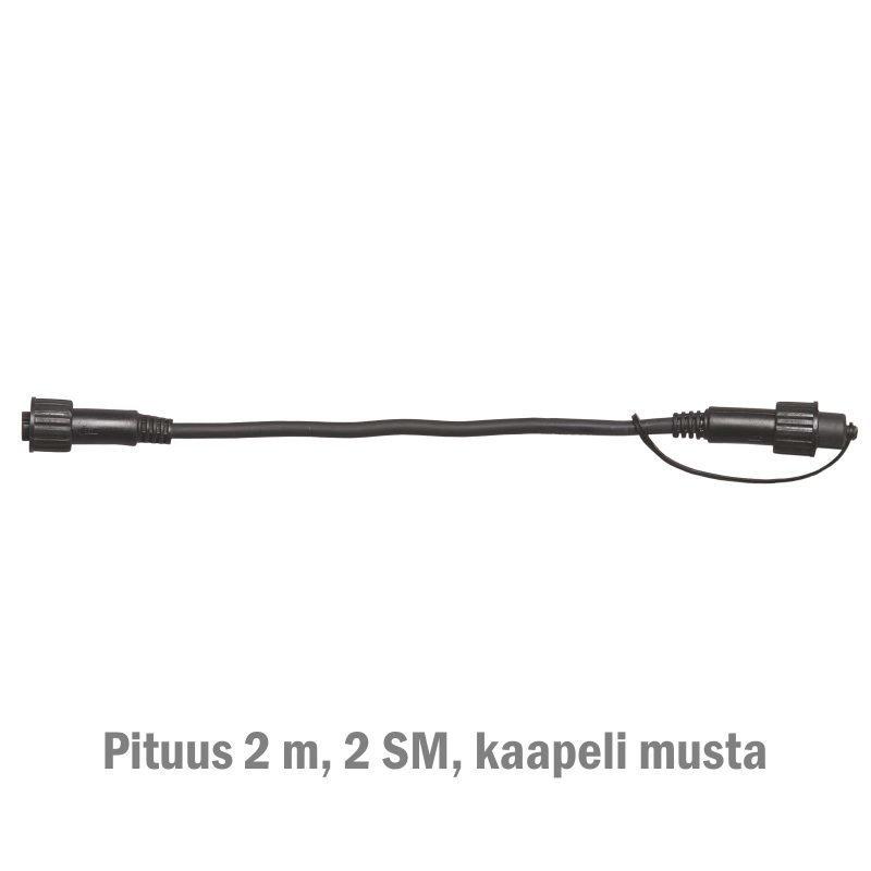 Jatkokaapeli System LED Extra musta 2 m