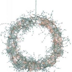 Joulukranssi Bore LED Ø 40 cm hopea
