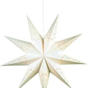 Joulutähti Solvalla 75 cm paperi valkoinen