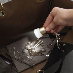 Käsilaukkulamppu Kullanvärinen