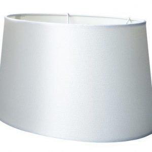 KJ Collection Lampunvarjostin Polyesteri Valkoinen 35x24