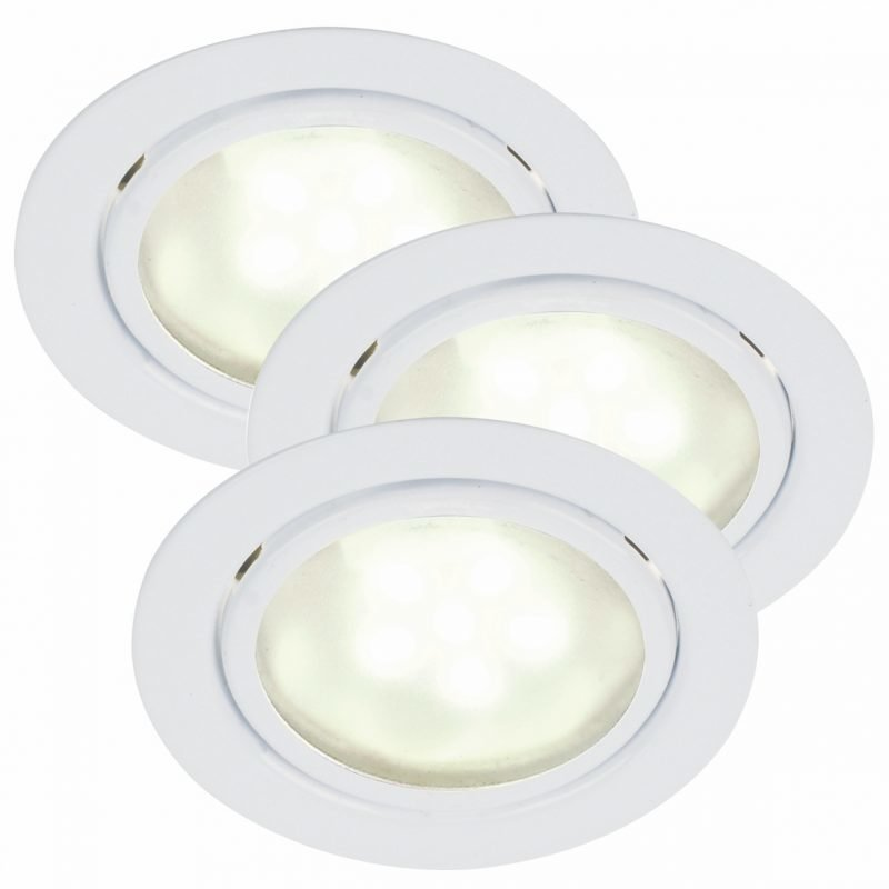 Kalustevalosarja Mercur 3-Kit LED Ø 66x30 mm 3 kpl valkoinen