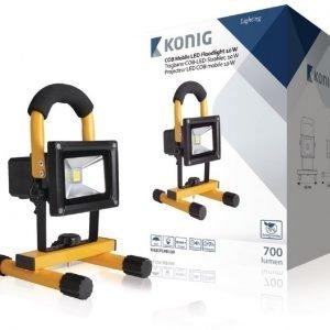 Kannettava COB-LED-valonheitin 10 W 700 luumenia EU-pistoke